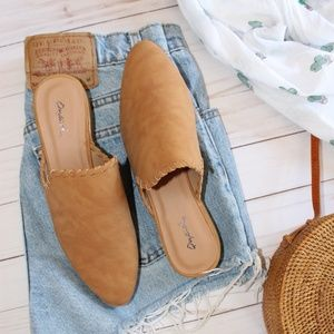 Shoes - 🚨LAST PAIR!!//The Sarahi// Tan braided flat/mule